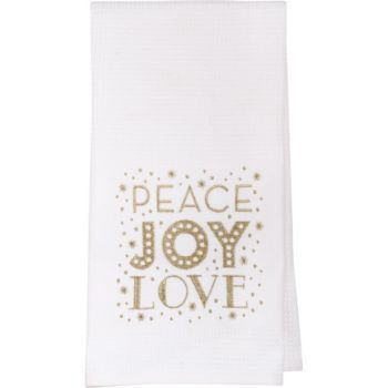 Paper Source Peace Joy Love Tea Towels Fun Christmas Decorations Paper Source Holiday Boutique