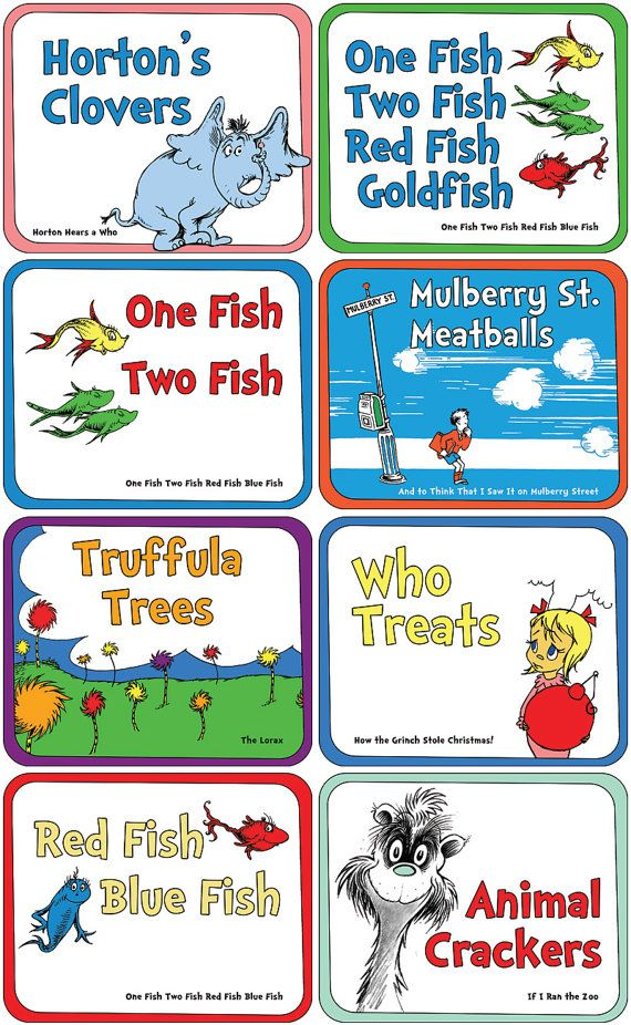 Many Of The Most Popular Dr Seuss Books Have Food References What