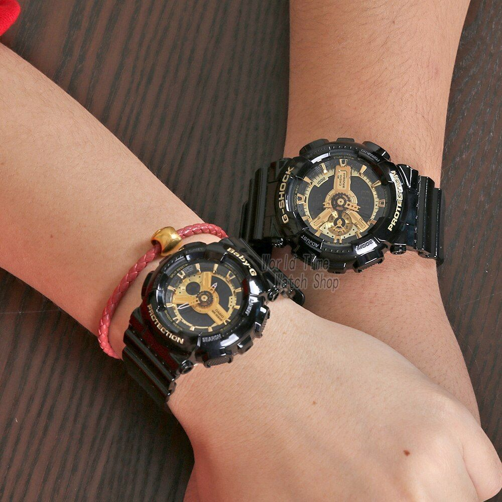 Casio Watch Couple Watches Men And Women Fashion Sports Watch Waterproof Electronic Form Set Ga 110gb 1a Ba 110 1a Casio Watch Couple Watches Women Fashi