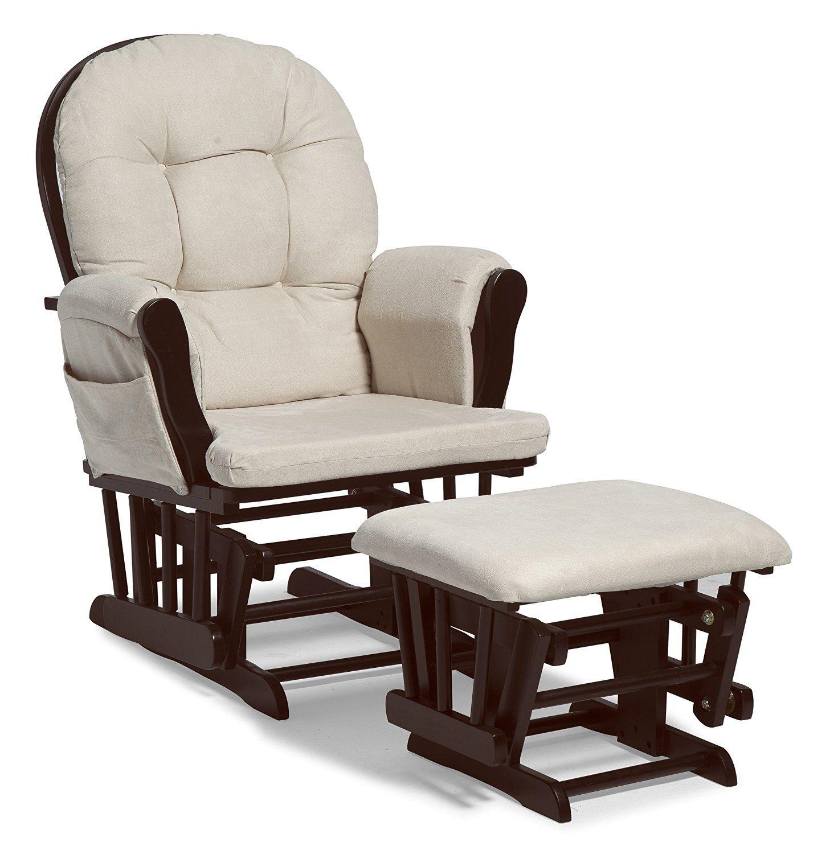 Glider And Ottoman Set Espresso Beige NURSERY Rocking Chair Hoop Glider ROCKER  sc 1 st  Pinterest & Glider And Ottoman Set Espresso Beige NURSERY Rocking Chair Hoop ...