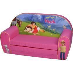 Kindersofa Heidi – pink – mit Liege