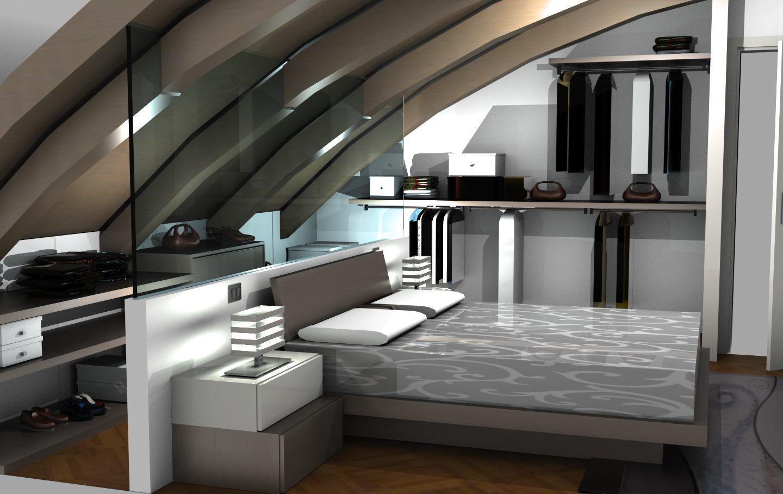 Mansarda Moderna Una Camera Da Letto Che Unisce Design E Funzionalita Sermobil Design Bedroom Space Camera Camera Da Letto Design