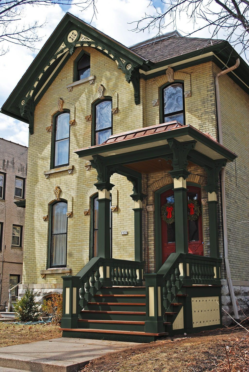 Yellow Brick Italianate Paint Houses Victorian Pinterest Bricks Exterior Paint Colors And