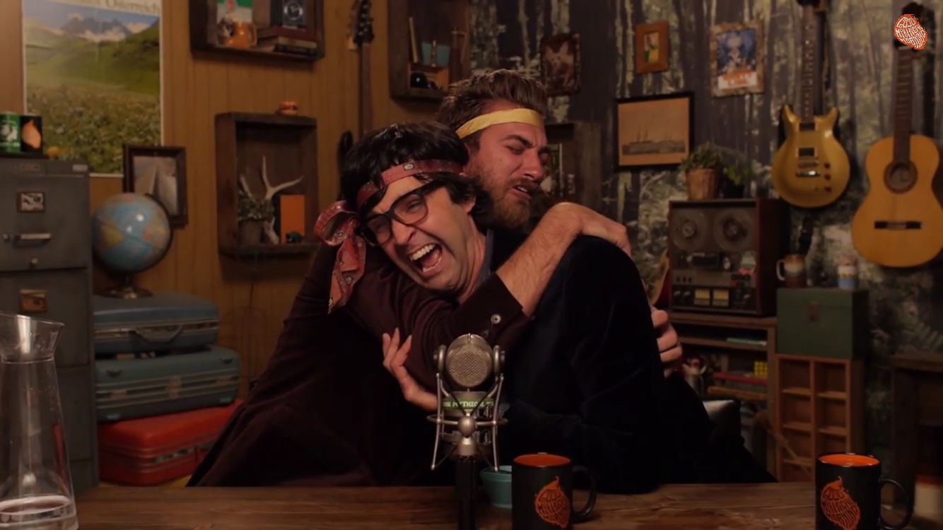 I Don T Ship Rhink But When They Hug It S Adorable Good Mythical Morning Rhett And Link Let Them Talk