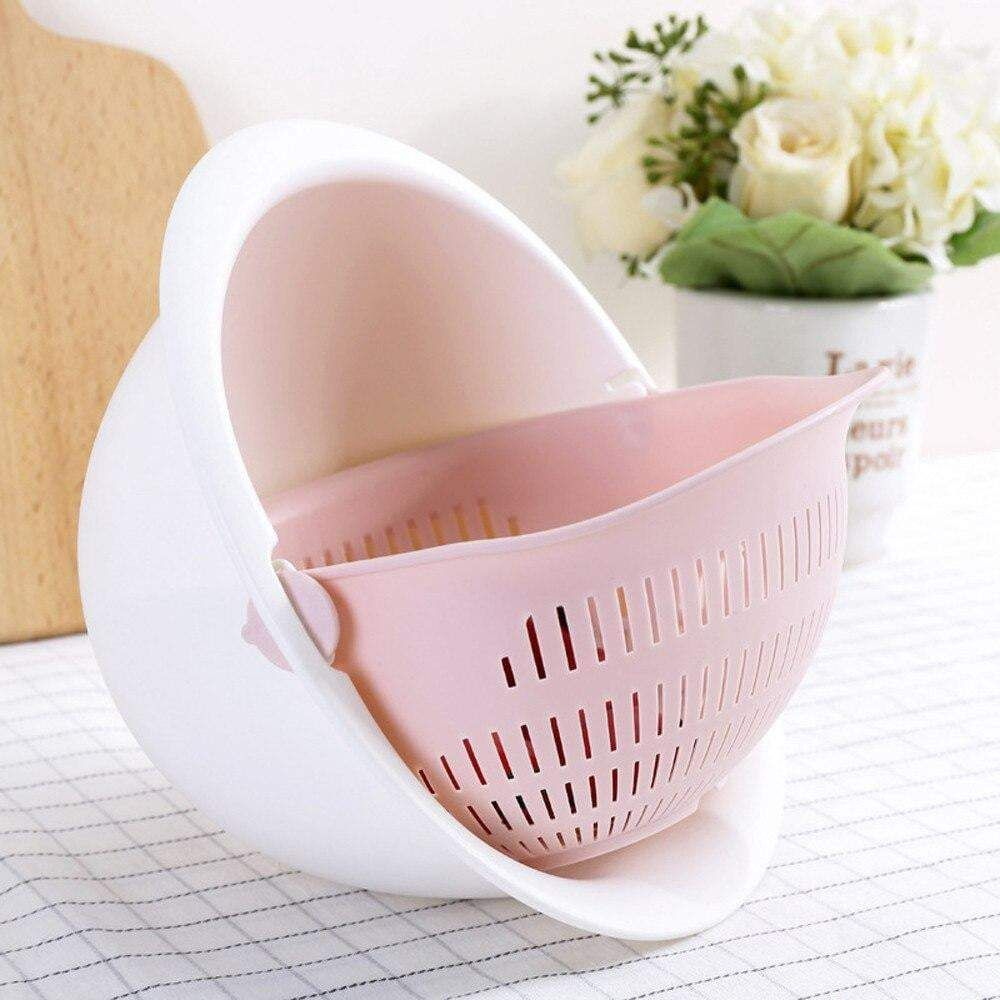 Photo of 2 in 1 Kitchen Strainer – With Washing Bowl / Pink