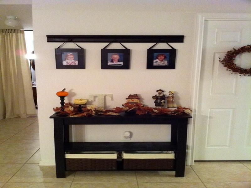 Foyer Console Table Decor : Foyer table decor diy decoration