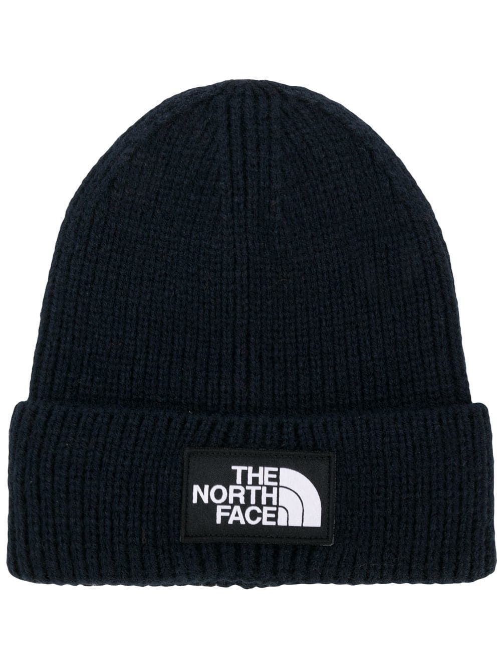 5a551a0e218 THE NORTH FACE THE NORTH FACE LOGO PATCH BEANIE HAT - BLUE.  thenorthface
