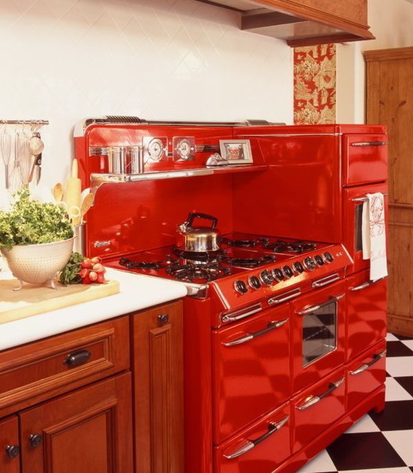 Eye-catching kitchen appliances, a fun and colorful way of standing ...