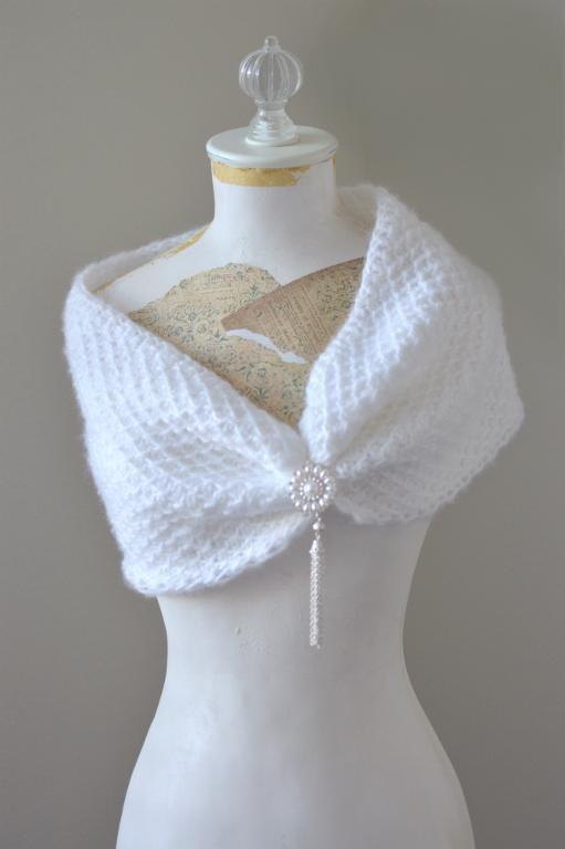 Tunisian Crochet Bridal Cowl Scarf | Tunesisch häkeln, Tunesisch und ...