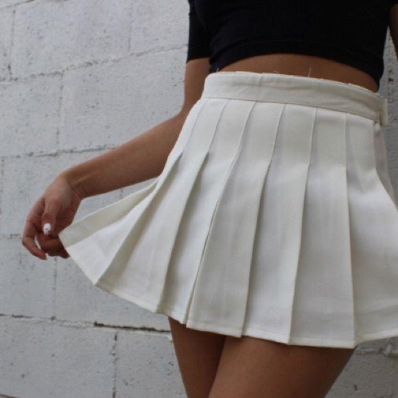 American Apparel White Pleated Tennis Skirt New Pleated Tennis Skirt White Pleated Tennis Skirt Tennis Skirt