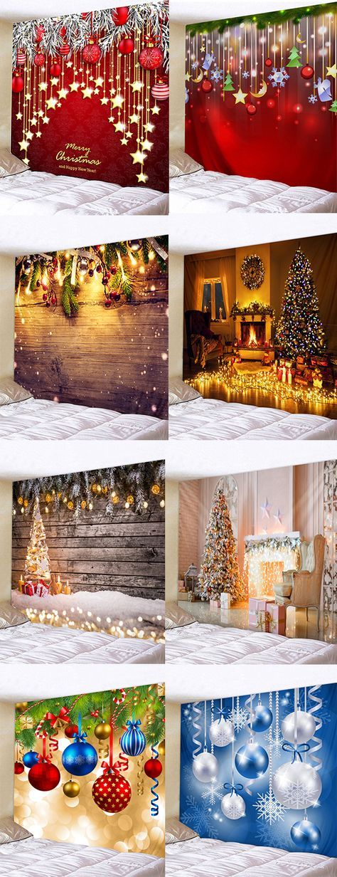 Buy Christmas Tapestry Christmas Decoration Fabric Tapestry Festival Wall Hanging Romantic Wall Art Christmas Diy Christmas Decor Diy Christmas Room Decor Diy