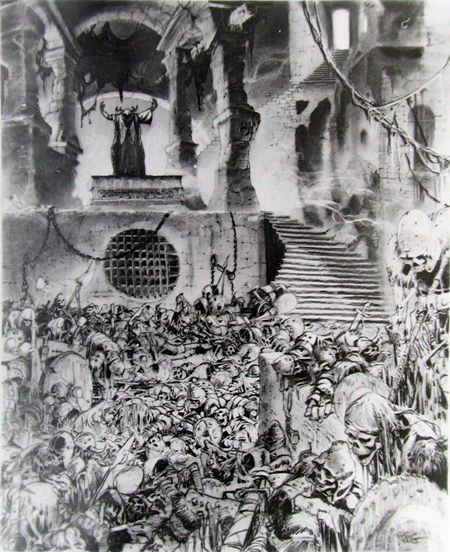 Concept art from the 1985 Disney film, 'The Black Cauldron' To this day, probably one of the scariest films I know lol