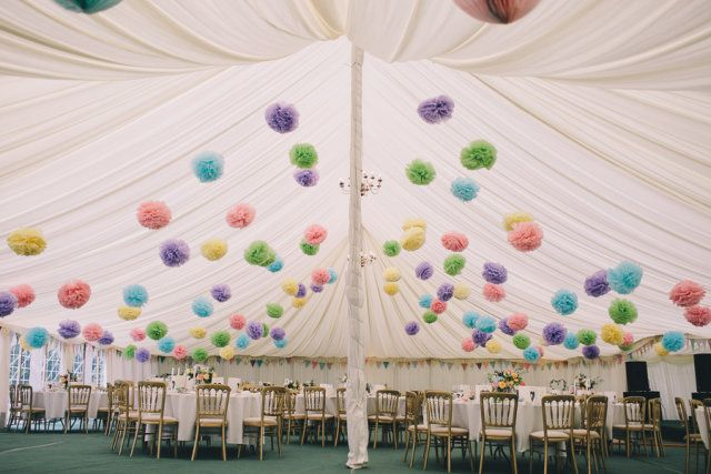 Big White Tent And Pastel Colours