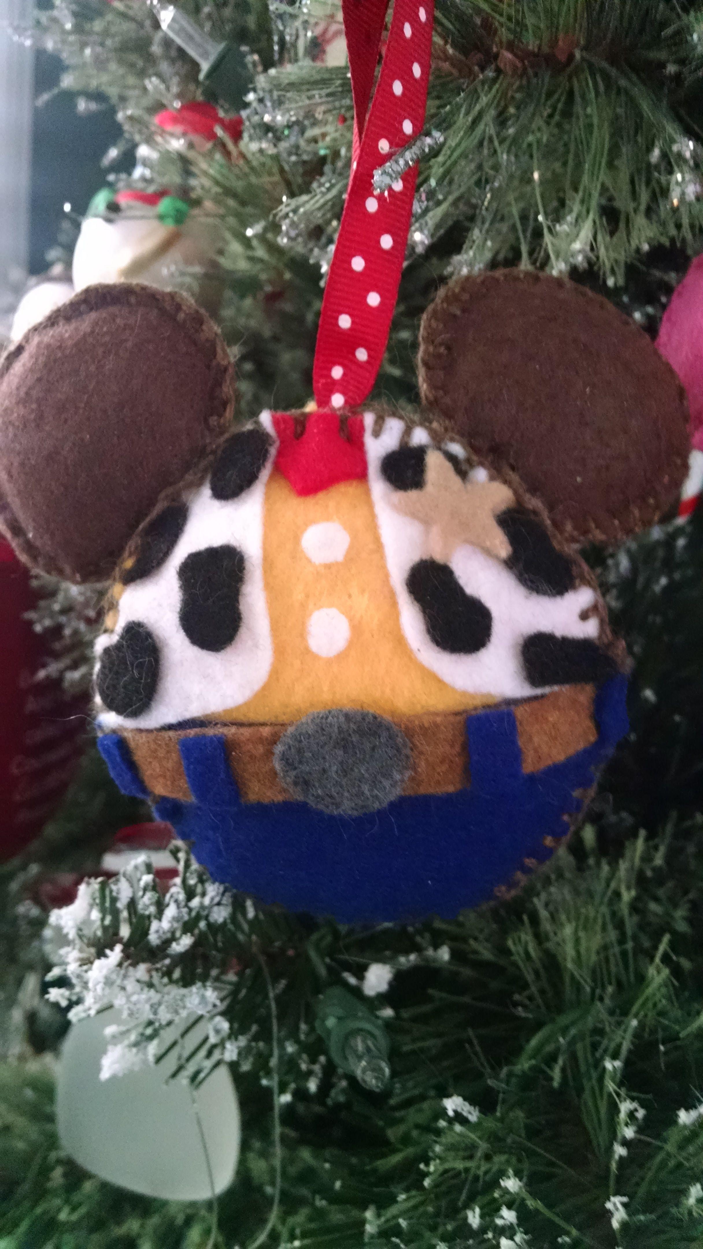 Woody Felt Ornament Disney Christmas Crafts Disney Felt Ornaments Disney Christmas Ornaments
