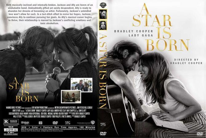A Star Is Born 2018 DVD Custom Cover Custom DVD Cover
