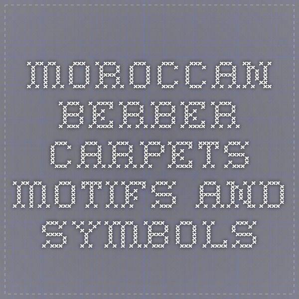 Moroccan Berber Carpets Motifs And Symbols The Leningrad Codex