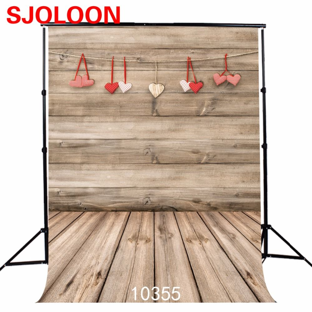 >> Click to Buy <<  Valentine's Day backdrops Children Art fabric  Photography backdrops   wood photo background  for photo studio  5x7ft SJOLOON #Affiliate