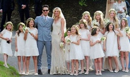 We loved kate moss fairytale wedding teamlbd wedding dress bride