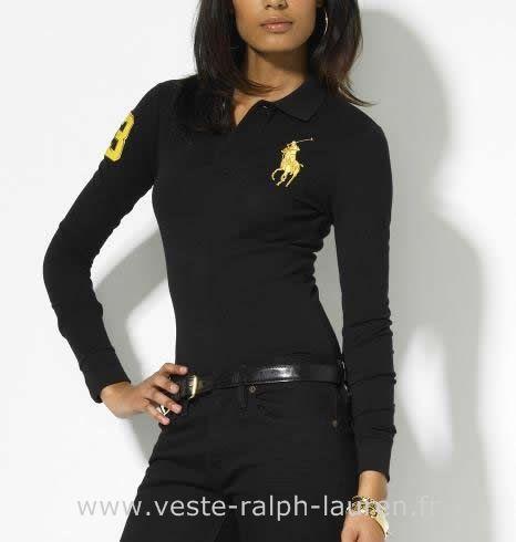 boutique Officielle Ralph Lauren femmes Manches longue t shirt big