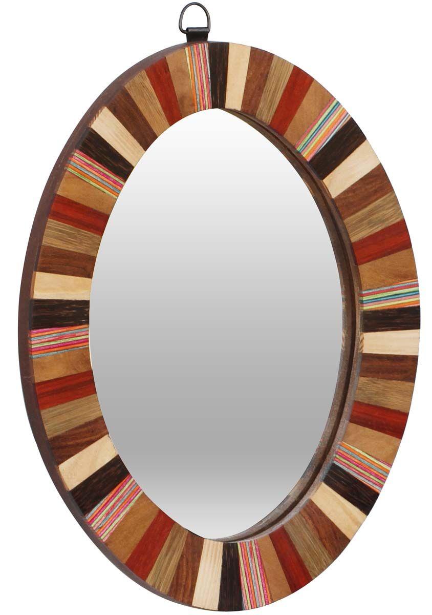 Bulk Wholesale Handmade Round Wallmounted Mirror In Earthen