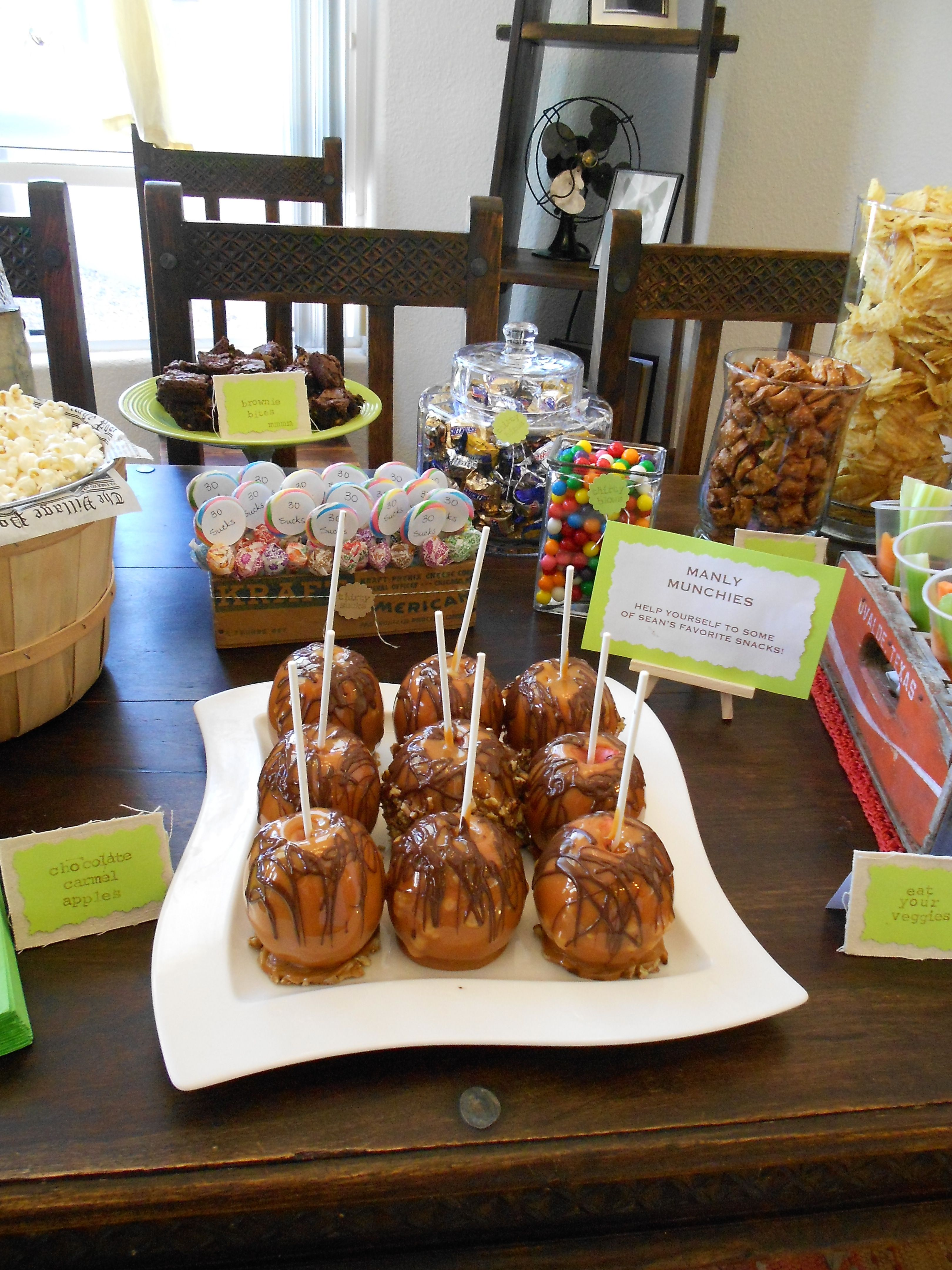 The Sweet Section Of The Snack Table Snacks Snack Table Caramel Apples
