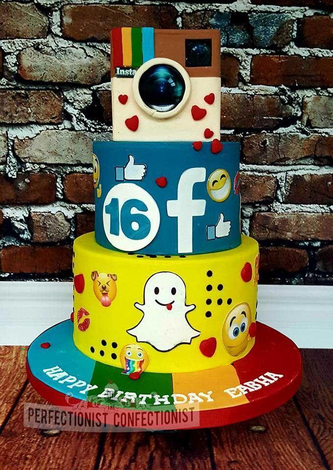 eabha instragram facebook and snapchat 16th birthday cake job