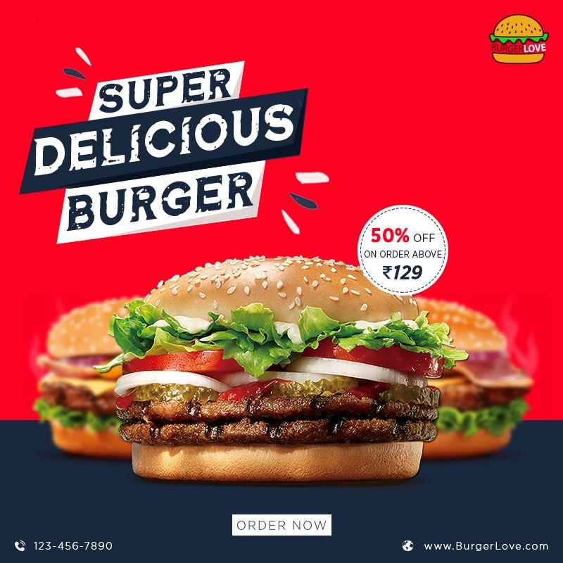 Burger Post Delicious Burgers Food Burger