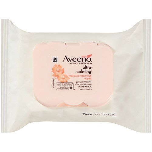 Aveeno UltraCalming Makeup Removing Wipes 25 Count *** Click image for more details. (Note:Amazon affiliate link)