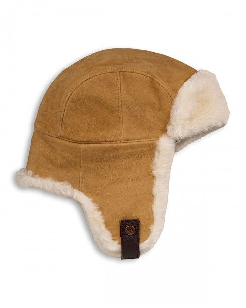 cce2835316576 Ugg Shearling Fur Trapper Hat Chestnut Brown Women s Australia ...