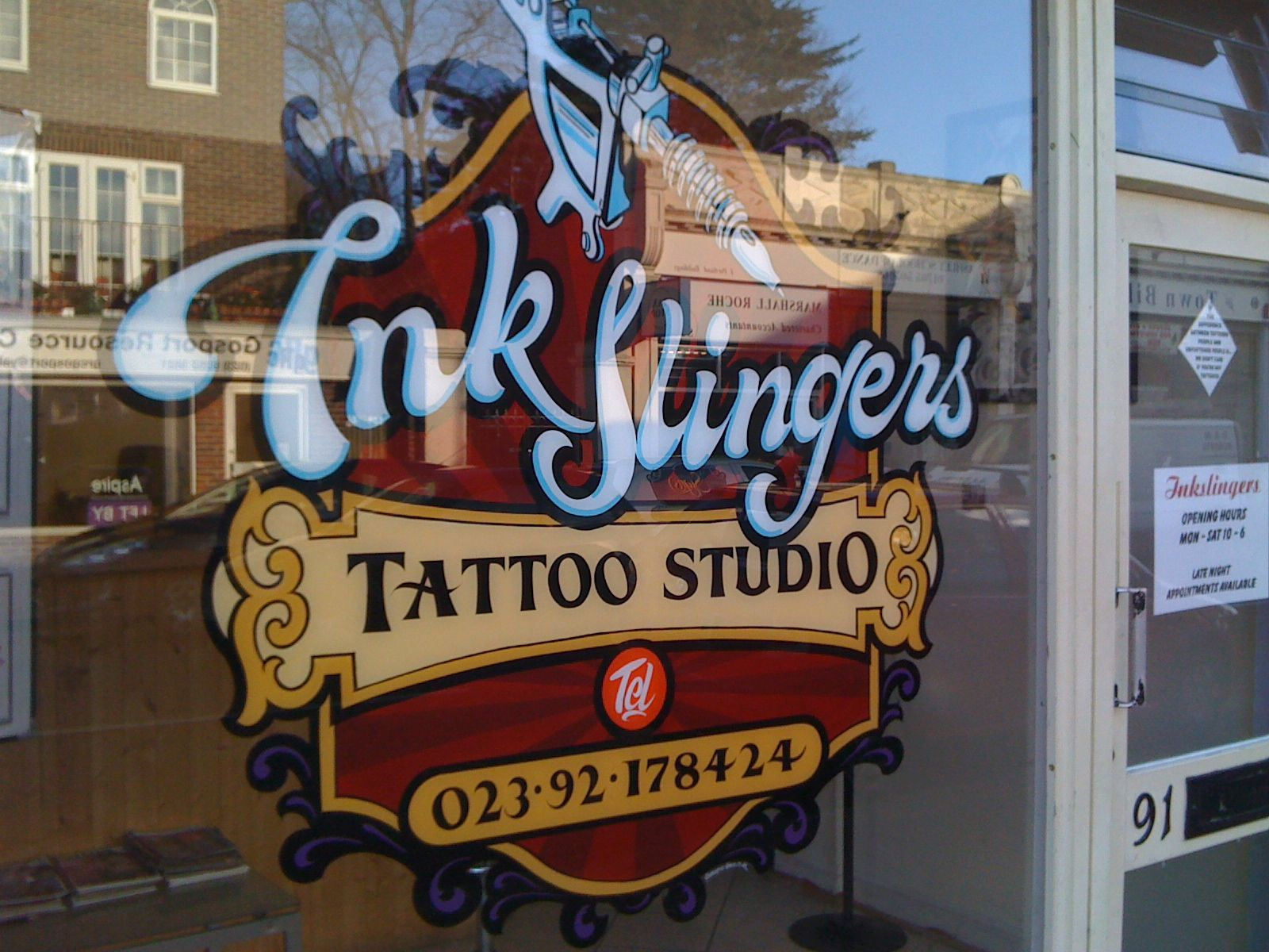 tattoo shop rules signs