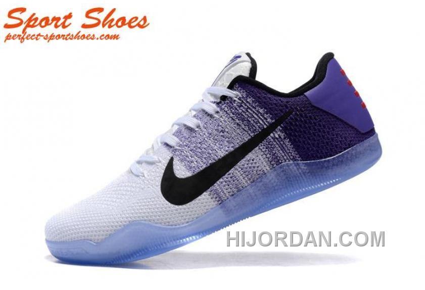 huge selection of bec18 63034 2016 Latest Nike Kobe 11 XI Elite Low Mens Basketball Shoes White Blue Black  Super Deals PWzWhXc, Price: $89.67 - Air Jordan Shoes, Michael Jordan Shoes