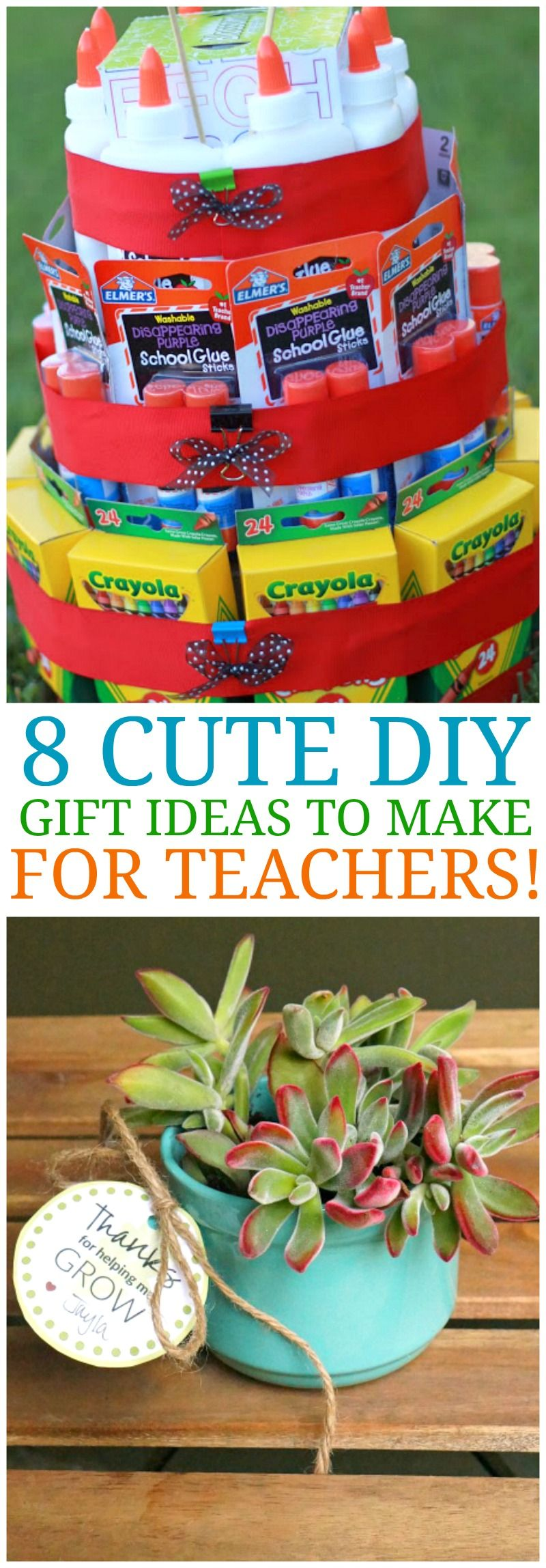 8 cute diy teacher appreciation ideas homemade gifts for
