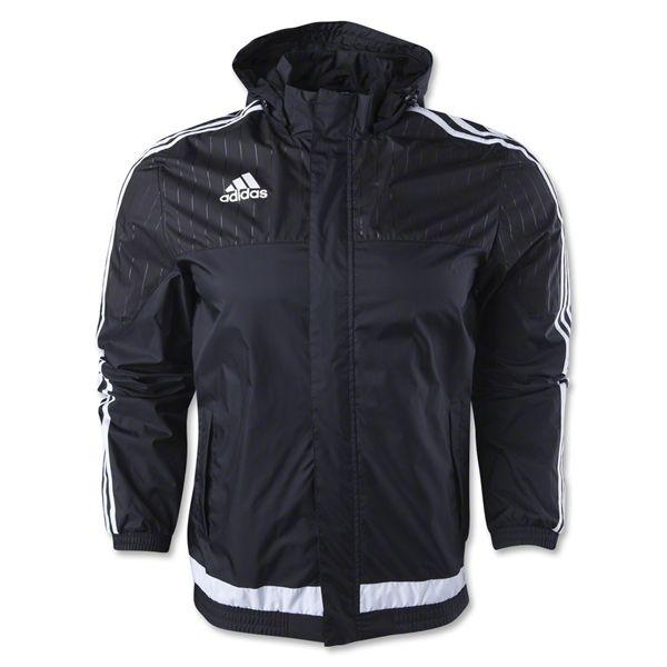 adidas Tiro 15 Rain Jacket BlackWhiteBlack