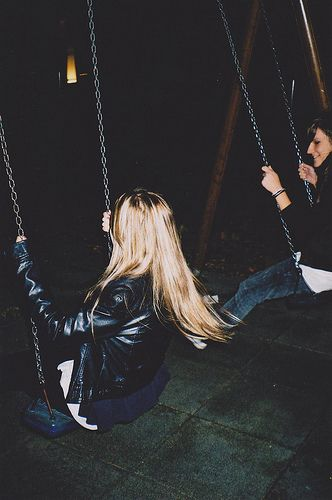I don't think I've ever cried on a swing... Swings are special.