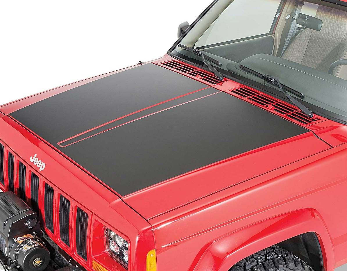 Product Vinyl Hood Blackout Decal For 84 01 Jeep Cherokee Xj