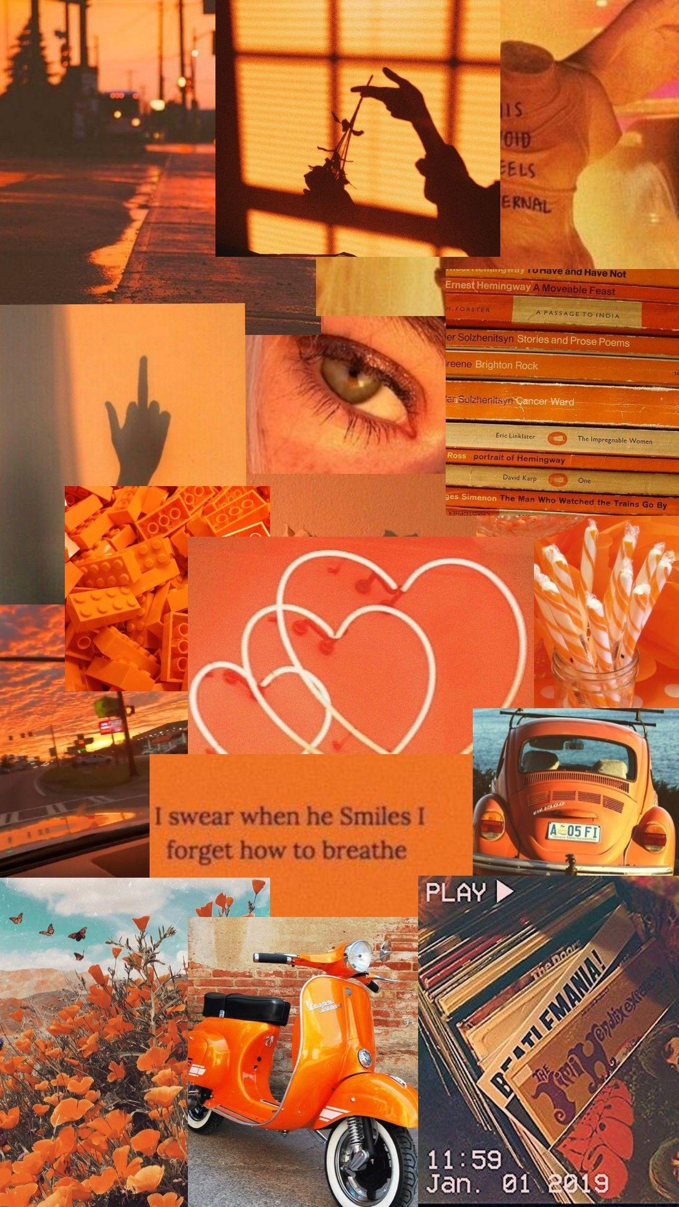 Orange Aesthetic In 2020 Aesthetic Iphone Wallpaper Aesthetic Pastel Wallpaper Iphone Wallpaper Tumblr Aesthetic