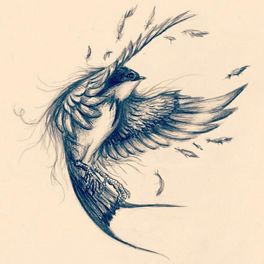 Pin By F Sh On Flying Sketch Tattoo Design Bird Drawings Birds Tattoo