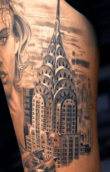 Building Tattoo Designs Chrysler Building Building Tattoo And V
