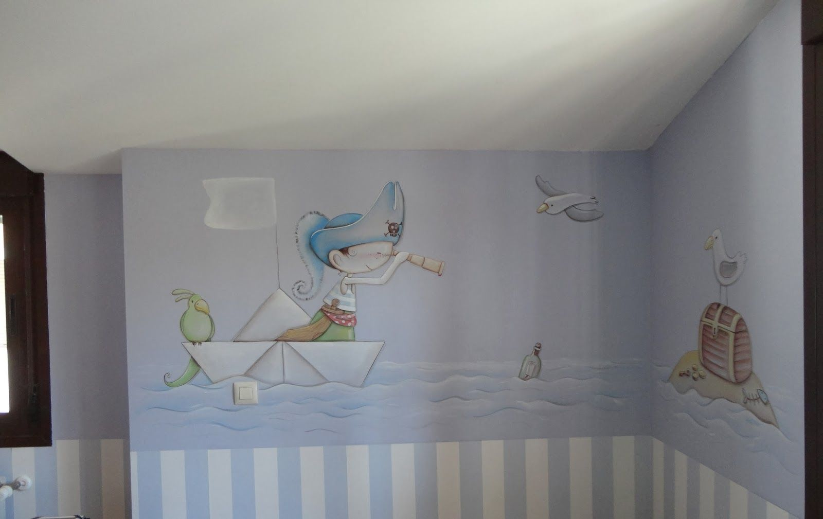 mural infantil piratas wandmalerei pinterest. Black Bedroom Furniture Sets. Home Design Ideas