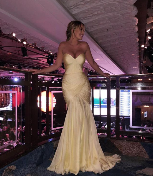Beautiful Katie Wright wearing our gown last night for the