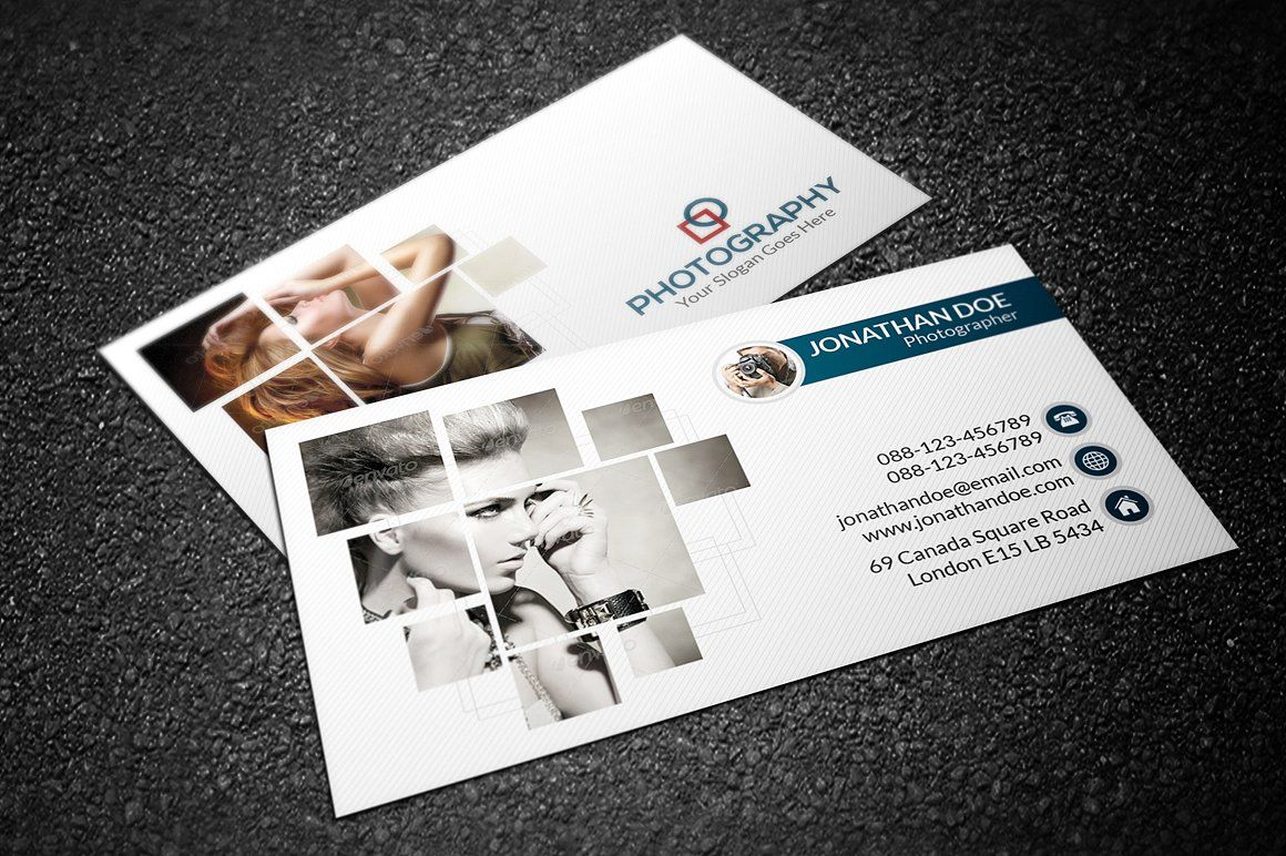 Photography business card by orcshape on creativemarket photography business card templates size with bleed resolution 300 dpi color mode cmyk photoshop prin by orcshape reheart Choice Image