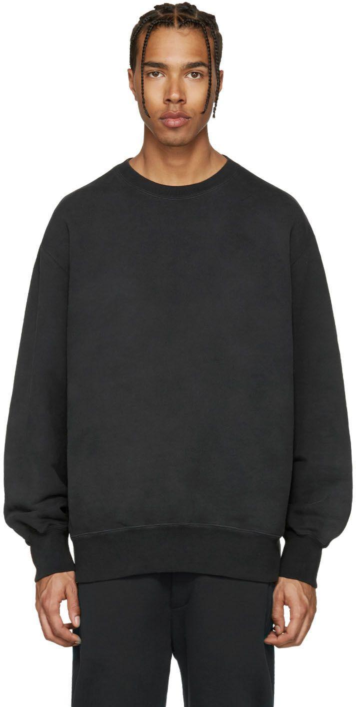 Yeezy Black Boxy Crewneck Sweatshirt Crew Neck Sweatshirt Yeezy Sweatshirts [ 1412 x 712 Pixel ]