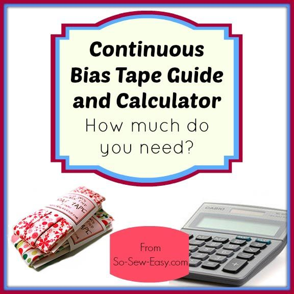 Continuous Bias Binding Calculator Calculator, Squares and Bias tape - hours worked calculator