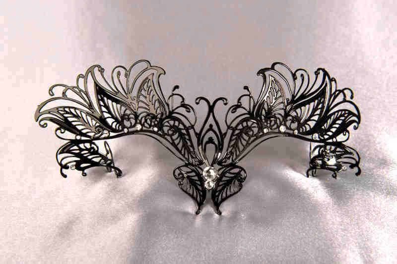 Pipistrello Glass Bat Masks that attach to Glasses Frames Venetian Masquerade