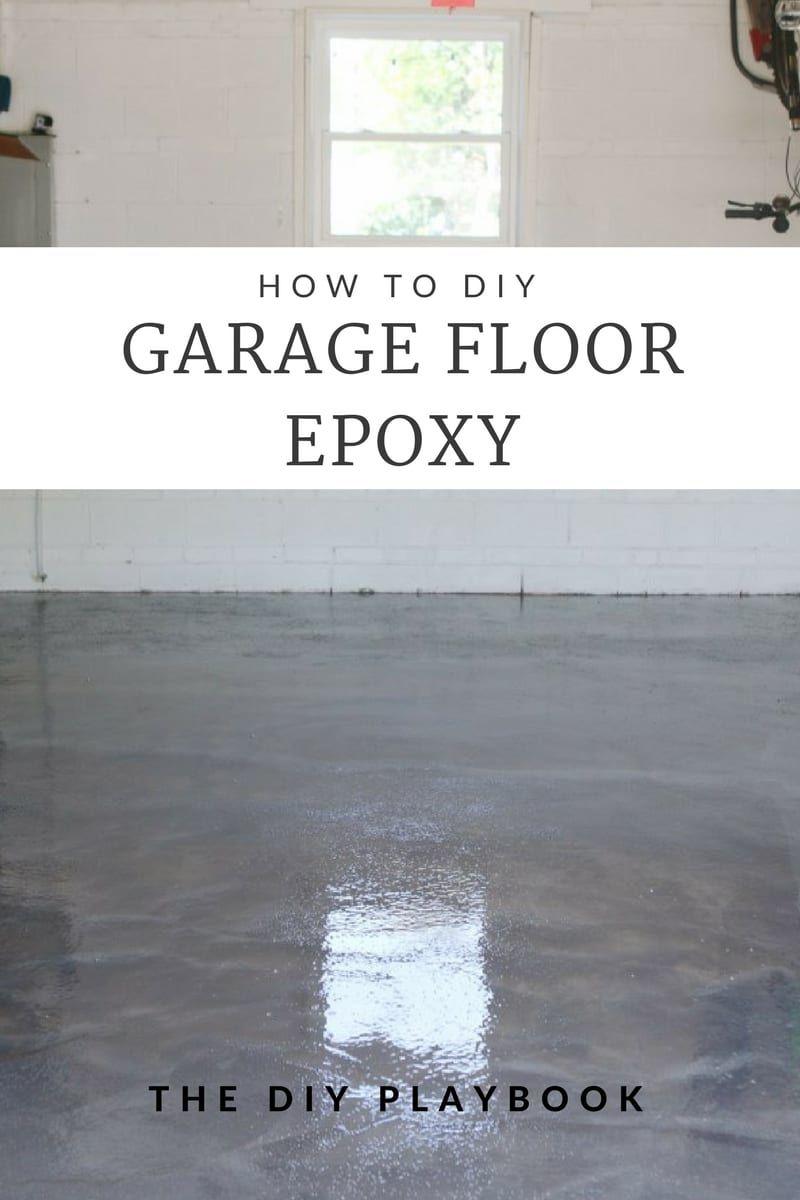 Sealing Garage Floor Diy Project With Epoxy Man Cave