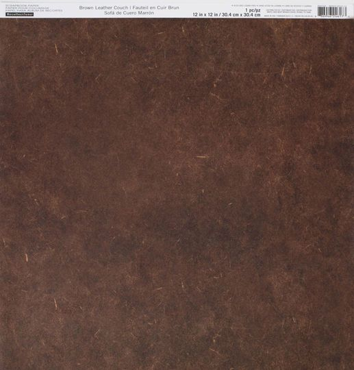 Brown Leather Couch Scrapbook Paper By Recollections