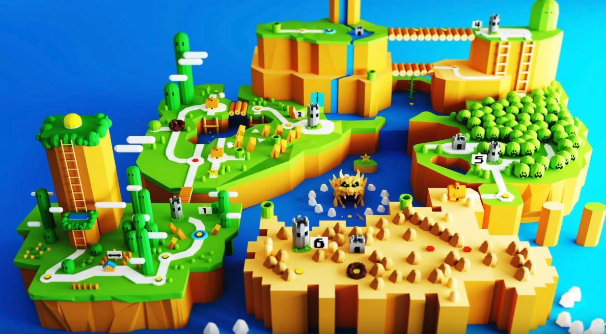 Check Out This Vr Sculpture Of Super Mario World Made In Google S Blocks Super Mario Super Mario World Super Mario Party