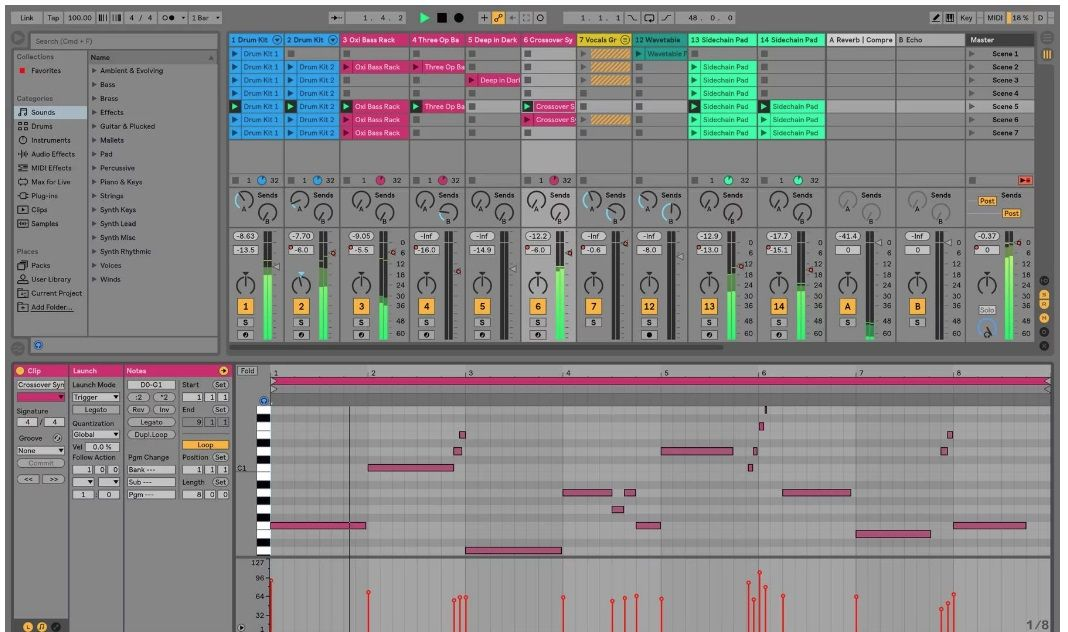 Software and Plugins Ableton live, Music sequencer