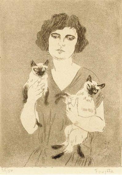 Leonard Tsuguharu Foujita 1886 1968 Cat Art Cats Artists Pet