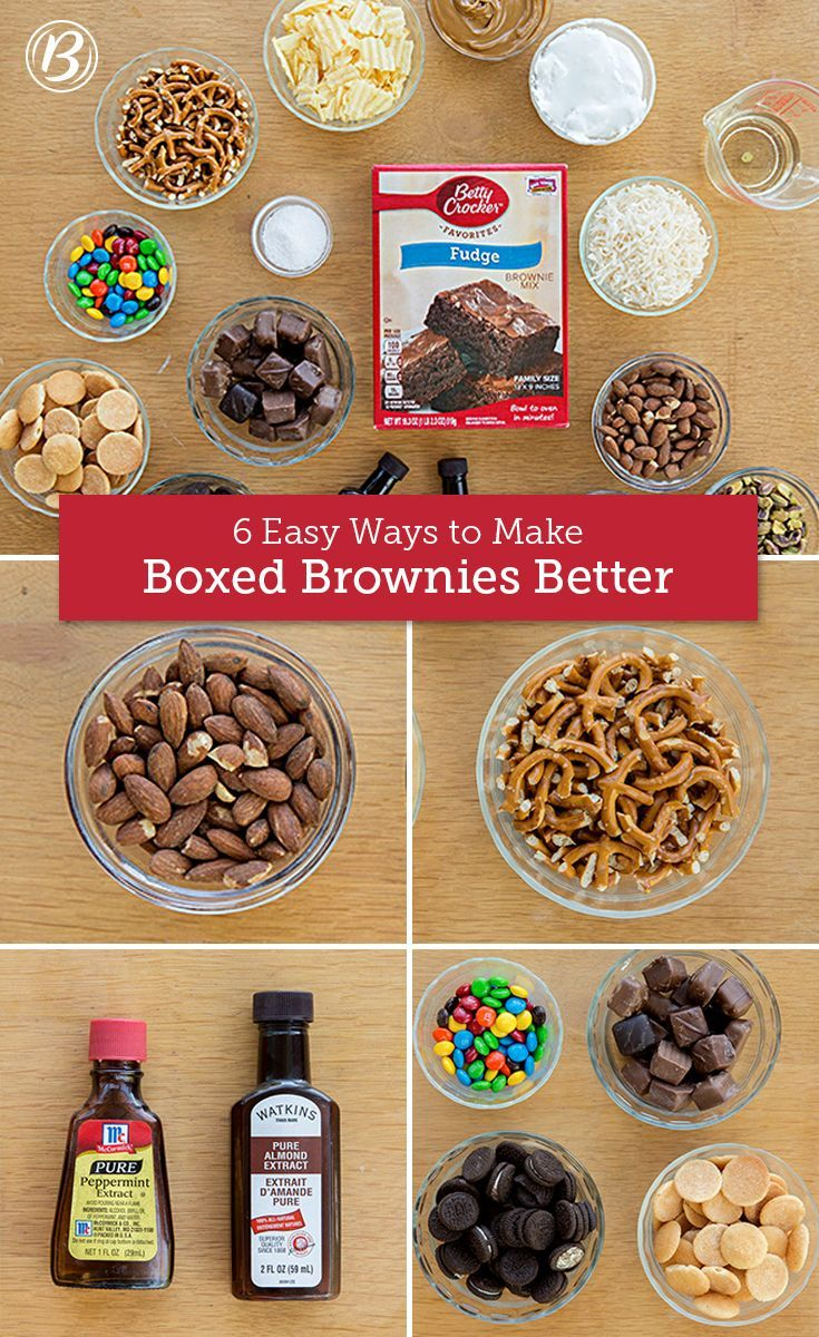 Easy Ways to Make Boxed Brownies Better Pantry staple stir-ins and simple substitutions make creating the brownie of your dreams dangerously easy.Pantry staple stir-ins and simple substitutions make creating the brownie of your dreams dangerously easy.